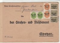 Germany 1922 Multiple Cancel & Official Stamps Cover ref 22940