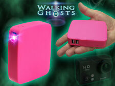 Portable USB Power Supply, Tablets Phones and Go Pro, Cameras Ghost Hunt Pnk UK