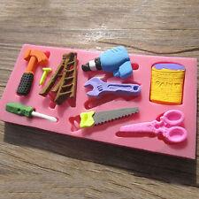 3D DIY Tools Hammer Spanner Ausstecher Form Marzipan Fondant Torte Deko