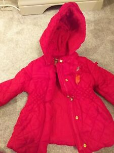Spanish Mayoral Baby Girl Red Jacket/Winter Coat, Frill Detail, Collar 9/12 Mths