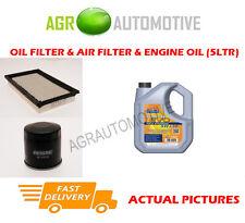 PETROL OIL AIR FILTER KIT + LL 5W30 OIL FOR MAZDA 626 2.0 116 BHP 1999-02
