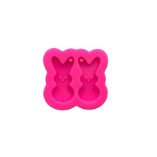 Peeps Bunnies Earring Resin Mold, Shiny Mold, Silicone Molds for Epoxy Crafts