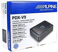 NEW Alpine PDX-V9 Alpine 1600W Max, 5-Channel Digital Car Amplifier 5CH Amp