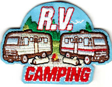"R. V. CAMPING""  Camper Scouts Outdoors Vacation Trip Recreation Travel"