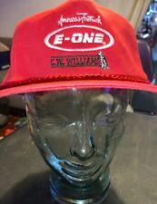 Snapback trucker advertisement E-One Red hat