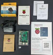 Raspberry Pi 3 Model B Quad Core 1.2GHz 64bit CPU 1GB RAM + Power Supply