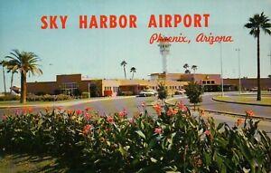 PLEASE READ !!! Sky Harbor Airport Phoenix Arizona AZ - Standard Chrome Postcard