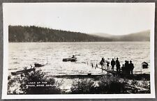 RPPC Oregon OR Lake Of The Woods Ashland Dock Boats Fishing Lake View C1920s