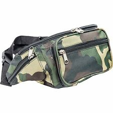 Outdoor Camo Water-Resistant Fanny Pack, Mens Waist Travel Pouch Hip Belt Bag
