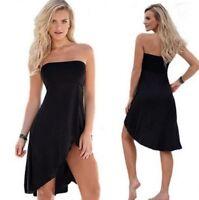 Summer Womens Sexy Off The Shoulder Slim Sleeveless Dress Beach Party Sundress
