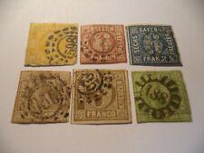 BAVARIA / BAYERN UNBROKEN CIRCLE, SG  21, 11X2, 25, 16 AND 28 1850 NICE STAMPS