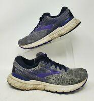 Brooks Womens Adrenaline Gts 19 Gray Purple Running Shoes Sneakers Size 8.5 B