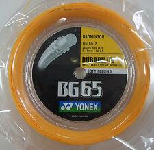 YONEX Badminton String BG65 BG-65 x 200 metres coil , ORANGE, 100% Genuine