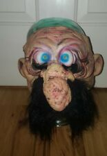 Halloween Old Man Mask Black Moustache PMG  2002 The Paper Magic Group blue eyes