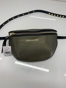NWT Michael Kors Leila Olive Small Nylon Belt Bag Fanny Pack $128