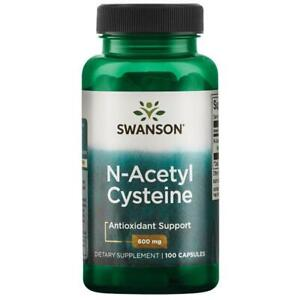 N-Acetyl Cysteine NAC 600mg 100 Capsules Liver And Lung Support Swanson