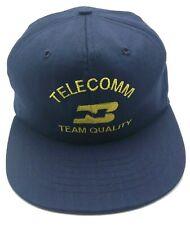 BURLINGTON NORTHERN TELECOMM vintage blue adjustable cap / hat - Made in USA!