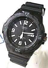 Casio Men's Teens Watch 100M Date Day Quartz Analog Black Resin MRW-200H-1B2 NEW