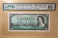 Canada $1 1954 BC-37bA S/N *D/O Replacement Beattie Rasminsky PMG 65 EPQ - CBNC