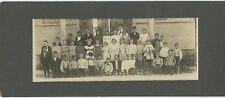 Multi Racial School Class Photo circa 1920 on card, names on back - Southwest?