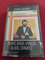 Plays:Bach,Vivaldi,Gluck,Stamitz by James Galway cassette  tape
