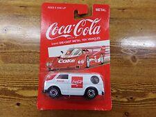 Coca Cola Die-Cast Metal White & Red Van NEW on Card by HARTOY ~ Coke Car