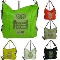 große Tasche Schultertasche EULE Handtasche Umhängetasche bag Shoppertasche 257