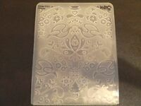 Sizzix Large Embossing Folder CHRISTMAS ALPINE YULE fits Cuttlebug 4.5x5.75in