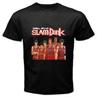 SLAM DUNK *Hanamichi Sakuragi Basketball Anime Men's Black T-Shirt Size S to 3XL