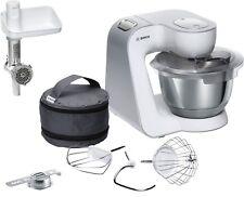 BOSCH MUM 58225 1000 Watt mit Fleischwolf Küchenmaschine MUM 5 Silber Weiß NEU