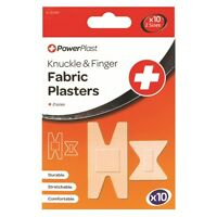 10 x Knuckle Finger Plasters Washproof Fingers Injury Cut Plaster First Aid UK