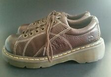 Dr Doc Martens Oxford Shoes Brown Leather Womens Size UK 6 US 8