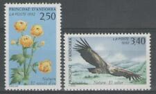 """ANDORRE Français:  n°420/421 **, """"faune et flore, vautour"""""""