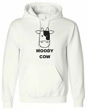 Moody Cow, Personalised Hoodie Custom Hooded Men T Shirt Top Design