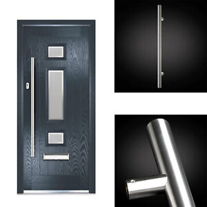 32mm Quality T Bar Door Pull Handle Inline 304 Stainless Steel with fixings