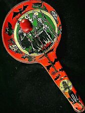 Vintage Halloween Tin Metal Noise Maker - Stunning Graphics 75 Years Old & Great