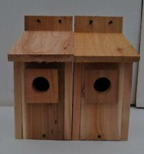 2 WESTERN BLUEBIRD BIRD HOUSES NEST..HOLE SIZE 1 9/16 ,,,5/8 cedar