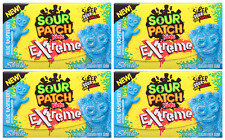 4x Stride Sour Patch Kids Extreme Blue Raspberry Flavour Gums American Sweets
