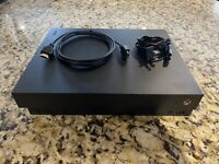 Microsoft Xbox One X 1TB 4k Blu Ray Black Console HDMI and Power Cord