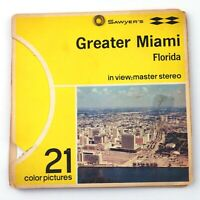 Vintage Sawyers View-Master 3-Reel Set Packet A963 GREATER MIAMI Florida