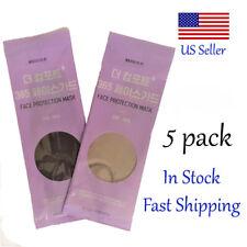 5 Pack Masks Of Black Or/And Gray Korean Face Mask Made In Korea Black / Gray