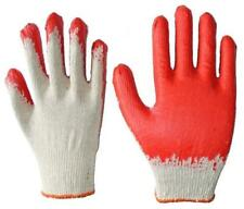 100 PAIRS Wholesale Red Latex Coated Cotton Gloves Made In Korea