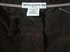 Size 8 short DAVID BROOKS PETITE Soft Brown Corduroy Women's Pants 32x28 Flatfrt