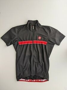 CASTELLI MENS CYCLING FULL ZIP JERSEY XLARGE GOOD CONDITION