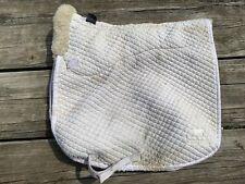 Used Roma contoured deluxe sheepskin English dressage pad
