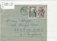 france 1954  stamps cover Ref 8476