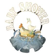 Mother goose Boy Baby Shower Cake Top Christening Decoration Centerpiece