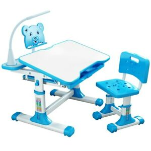 Children Desk and Chair Set Multifunctional Kids Study Table Combination Desktop