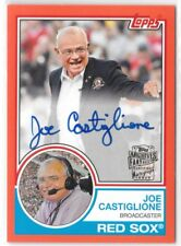 Joe Castiglione Red Sox HOF 2017 Topps Archives Red Auto Autograph 02/25
