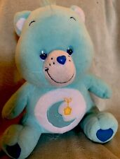 "Bedtime Care Bear Blue Moon Gold Star 13"" Stuffed Animal Plush Toy 2002 Very Gc"